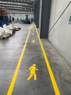 warehouse internal walkway