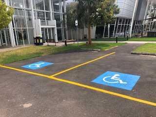 Disabled car parking bay